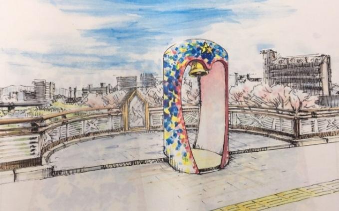 大阪府枚方市「しあわせのモニュメント」製作費の一部をBNIメンバーが寄付